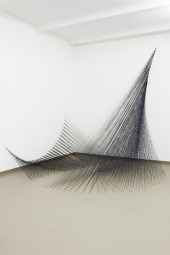 Black Poppy, 2009. Installation view, EXILE, Berlin. Hand-dyed wool and nails, 280 x 280 x 290 cm