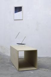 Katharina Marszewski: Mes Amis, Archival inkjet print, 48 x 34 cm, 2009. Untitled. 2010. Painted wooden sculpture on custom pedestal, 115 x 45 x 45